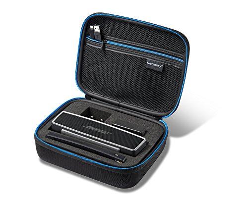 Supremery Tasche für Bose SoundLink Mini II/Mini Bluetooth Lautsprecher Case Hülle Eva Reisetasche mit Netztasche, Reißverschluss und Tragegriff - Wasserabweisend in Schwarz-Blau