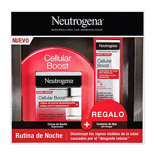 Neutrogena Cellular Boost Anti-Aging-Packung mit regenerierender Nachtcreme und verjüngender Anti-Falten-Augenkontur