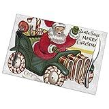 Uyikuvt Juego de 6 manteles individuales de Santa Says Merry Christmas para mesa de comedor lavables, antideslizantes, 45,7 x 30,5 cm