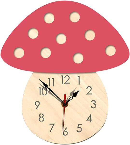 Iusun 挂钟刺猬贴纸 DIY 3D 静音木钟纸可移除自粘艺术壁画卧室客厅餐厅儿童幼儿园商场装饰