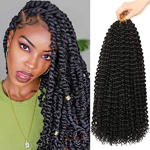 6Packs Passion Twist Hair 18Inch Water Wave Crochet Hair for Passion Twist Crochet Braiding product image