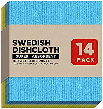 14-Pack Cellay Swedish Dishcloth Kitchen Towels