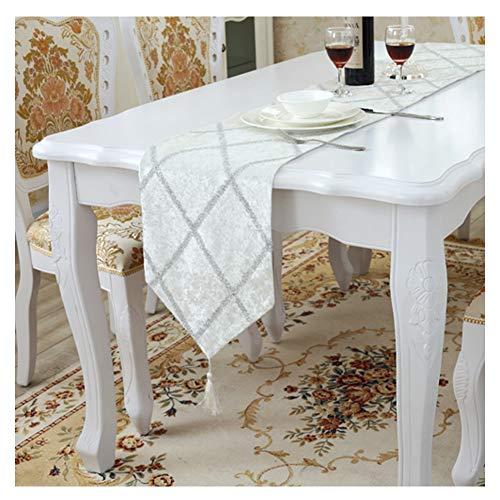 WXIAO moderne tafelloper machine wasbaar geruite ontwerp Placemat kwastjes zachte eenvoud open haard decoratie dressoir sjaals