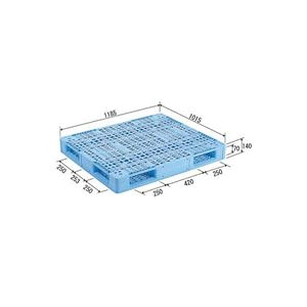 塊発表担当者三甲 - サンコー - / プラスチックパレット/プラパレ / - 両面使用型 - / TP規格箱用パレット/段積み可 / R4-1012 / ライトブルー - 青 - - -