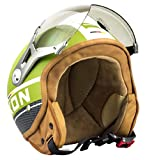 SOXON SP-325-PLUS Army · Mofa Scooter Chopper Helmet Casque Jet Biker Pilot Moto...