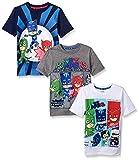 PJ MASKS Little Boys' 3 Pack Tees, Multi/b, 6