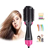 Hair Dryers & Volumizer, Lanic 3 in 1 Hot Air Brush Negative Ion Generator Hair Dryer Brush for Dry, Straighten, Curling,Hair Styling Tool with Negative Ionic Technology for All types Hair