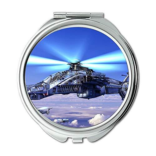 Yanteng Tapetenkampfflugzeug, Spiegel, Schminkspiegel, EIN Kämpferherz, Taschenspiegel, tragbarer Spiegel