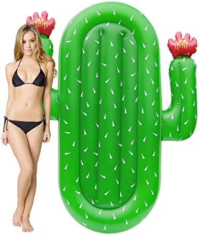 Kurala Inflatable Cactus Pool Float Summer Water Toy Kids Adults 69 Inches Long product image