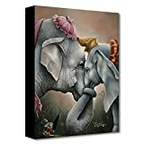 Disney Fine Art Together at Last by Jared Franco 16 Inches x 12 Inches Dumbo Treasures on Canvas Reproduction Gallery Wrapped Canvas Wall Art