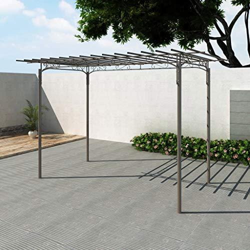 FAMIROSA Stahl Pavillon Gartenlaube...