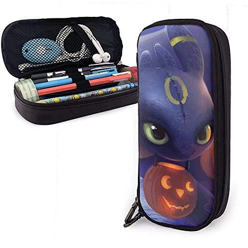 Furia con calabaza, linterna, accesorios de escritorio, funda de lápiz de cuero, bolsa de cosméticos pequeña impermeable