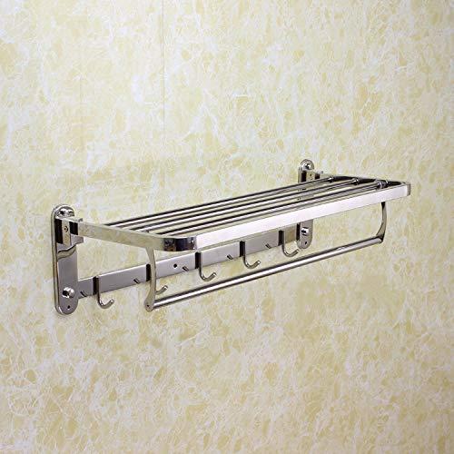 Toallero de acero inoxidable 304, toallero de tubo cuadrado móvil, toallero plegable, estante de baño, toallero de hotel