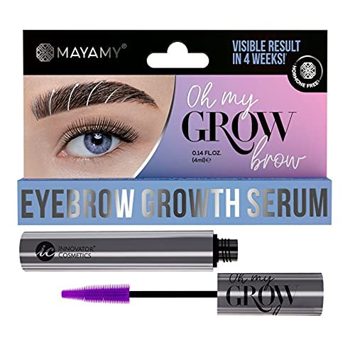 MAYAMY Sérum à sourcils pour une croissance plus rapide et plus dense, sérum eyebrow Growth avec brosse 4 ml