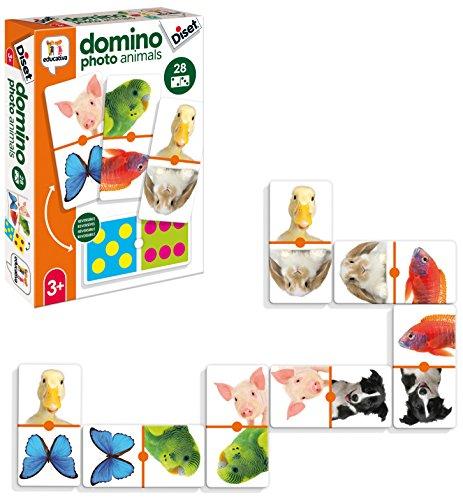 Diset- Domino Photo Animals Juego Educativo para Niños, Multicolor (68968)