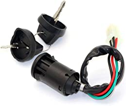 Chanoc 4Wires Ignition Switch Key Set with Cap for 50cc 70cc 90cc 110cc 125cc 150cc 200cc 250cc TaoTao Sunl ATV Dirt Bike Quad