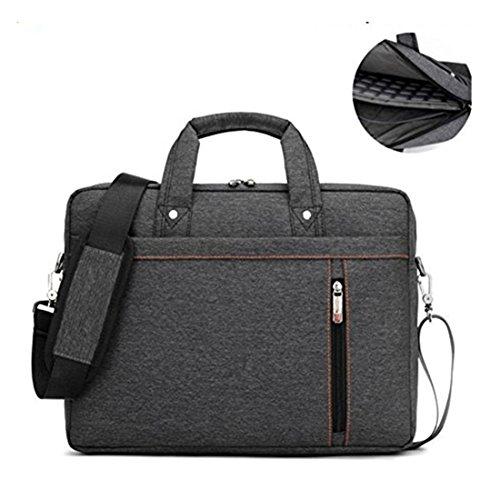 17.3' Waterproof Shockproof Roomy Stylish Laptop Shoulder Messenger Bag Handle Bag Tablet Briefcase For 17 Inch Laptop/Tablet/Macbook/Surface (Black)
