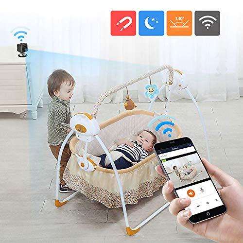Preisvergleich Produktbild Smart Wireless Camera A1081 720P P2P-IP-Kamera / Wireless WiFi-Fernüberwachung Mini-DV-Kamera,  mit IR-Nachtsicht & Einbau-Magneten Funktion & Handy-Fernbedienung (schwarz) HWY (Color : Black)