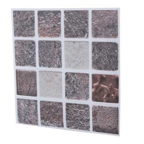 Wifehelper 18 Pezzi Adesivi per Piastrelle Adesivi per Piastrelle a Mosaico Impermeabile Adesivi per Il Bagno Cucina Fai da Te Casa Pareti Porte Finestre Mobili Decorazione (10 cm * 10 cm)(MTS010)