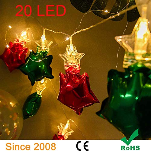 20 LED Photo Clips String Lights Star Shapes Battery Powered Warm White Lights,3 modes,Wedding Birthday Christmas Holidays (10 Feet,Warm White)