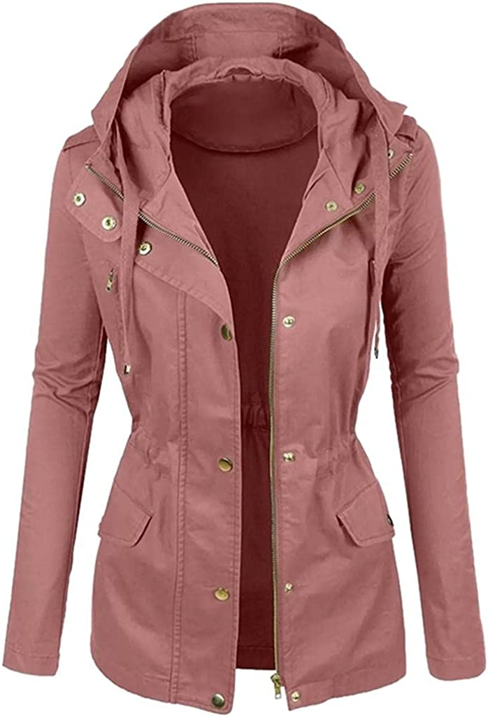 Women's Fashion Winter Leather Jacket Coat Plain Color Short Lapel Motorcycle Fur Trench Pea Coats Windproof Outwear