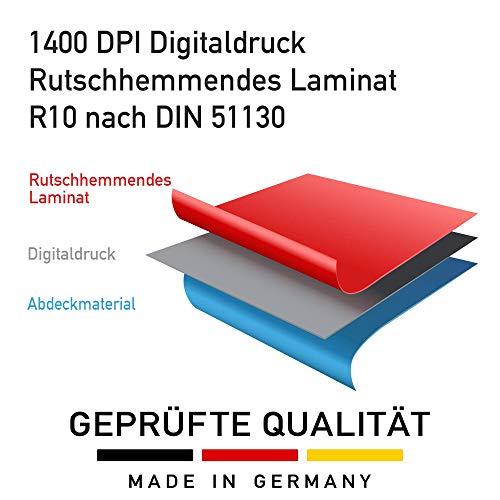 Fussbodenaufkleber 400x400 mm/Rot - Abstand halten - 5