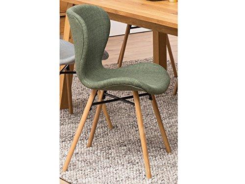 möbelando Esszimmerstuhl Loungestuhl Küchenstuhl Essstuhl Stuhl Bashira I (2er-Set) grün