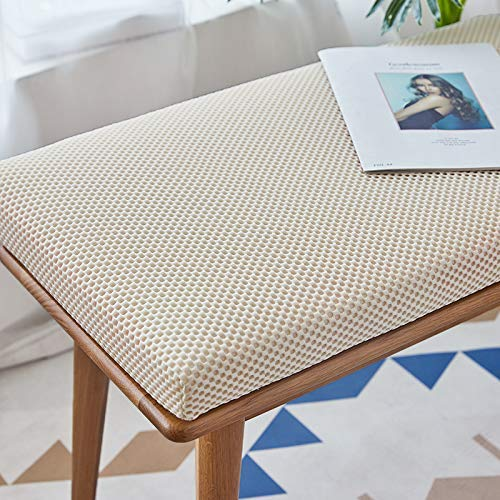 Barm Outdoor seat Cushion Made of Metal, Wooden Bench, Rectangular Cushion for Swing/Bench, 2 or 3 Seats, 4 cm Thick mat (150x30 cm, Beige)
