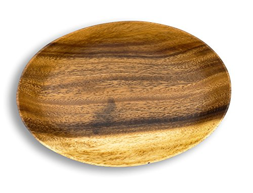 levandeo Holzschale Akazie 19cm Oval Design Snackschale Schale Obstschale Obstkorb Tischdeko Deko