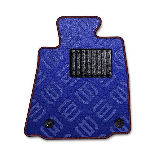 DAD ギャルソン D.A.D エグゼクティブ フロアマット HONDA (ホンダ) PRELUDE プレリュード 型式:BB1/4/BA8/9 1台分 GARSON モノグラムデザインブルー/オーバーロック(ふちどり)カラー:ワインレッド/刺繍:無し/ヒ