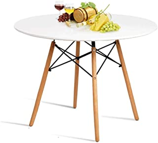 Hyhome Kitchen Dining Table Round Coffee Table Modern...