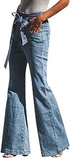 Flare Jeans Women Plus Size Jeans Loose Denim Bow Casual Boot Cut Pant Jeans
