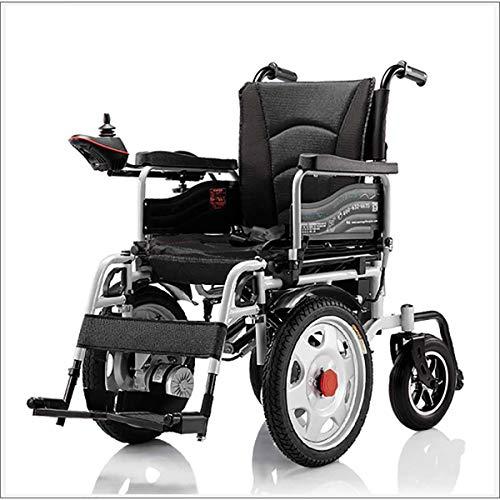 MOKY Elektro-Rollstuhl, Faltbare Elektro-Rollstuhl mit Polymer-Lithium-Ionen-Batterie, Antrieb mit Strom oder manuellem Rollstuhl für ältere Menschen