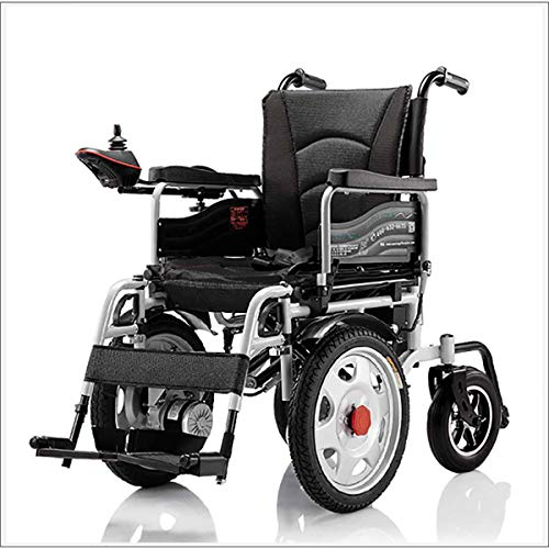 Electric Wheelchair, Foldable Power Wheelchair With Polymer Li-Ion Battery, Drive with Electric Power Or Manual Wheelchair for The Elderly