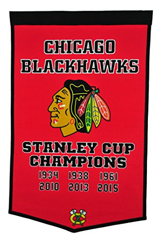 Winning Streak Sports NHL Chicago Blackhawks Dynasty Banner - Wall Decor for Sports Fans