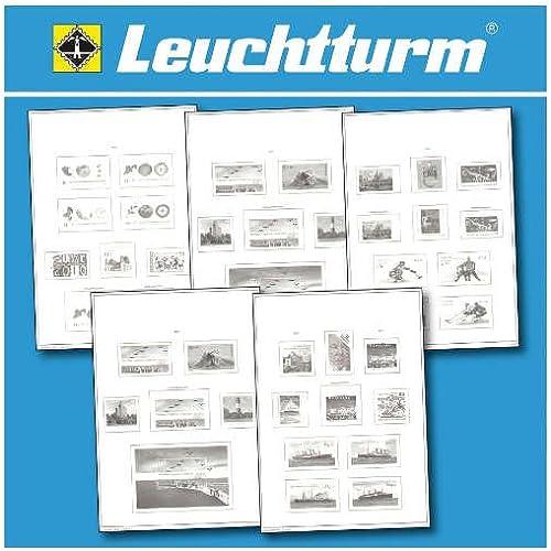 LEUCHTTURM SF-Feuilles préimprimées Luxembourg 1945-1969