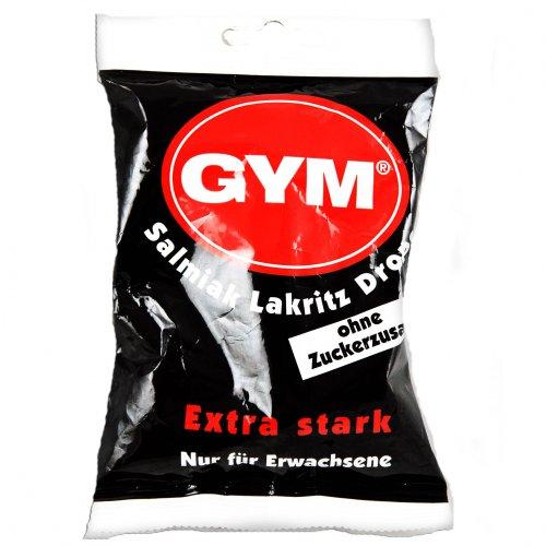 GYM Salmiak Lakritz Drops zuckerfrei, 100 g