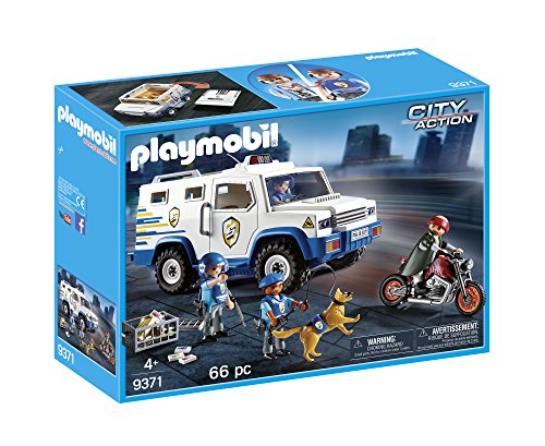 Playmobil- City Action Giocattolo Furgone Portavalori, Multicolore, 9371