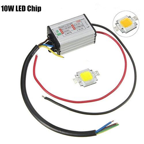 Preisvergleich Produktbild Bazaar Hohe Leistung 10W LED SMD Chip-Birne mit Wasserdichtes Treiber Versorgung DC9-12V