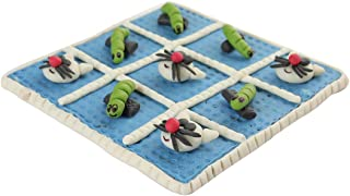 Classic Tic Tac Toe Board Game Toy Indoor Activity, Family Travel Games for Animal Lover Cross and Nought Brain Teaser Puz...