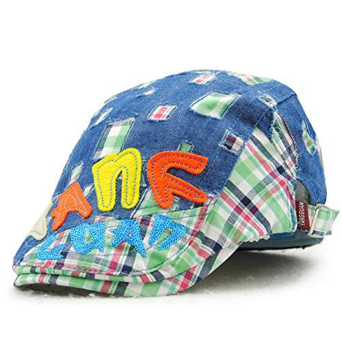 wopiaol Sombreros para niños Europeos y Americanos, Boinas, Puro algodón, Viejas Gorras de Vaquero, Contraste de Moda Primavera y otoño