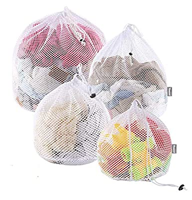 Yoassi 4 Sizes Laundry Bags,Fine Mesh Wash Bags, Storage Bags,Three Layer Washing Machine Bag with Drawstring Closured Design for Underwear,Sock, Baby Cloths,Travel, Delicates