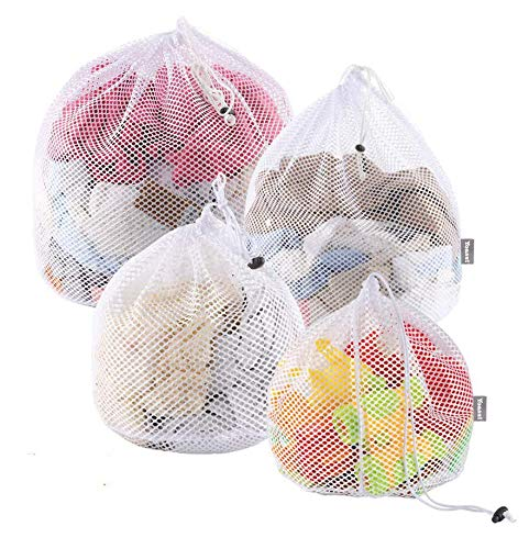 Yoassi 4 Sizes Laundry Bags,Fine Mesh Wash Bags, Storage Bags,Three Layer...