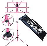 keepdrum MUS2Pink Notenständer Pink kindgerecht + Tragetasche