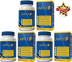 Limitless Health - Brain Function - 3 Bottles (Buy 2, Get 1 Free) - Three Month Supply - Results in 27 Minutes | 8 Ingredients | Improve Reaction Speed | AS Heard ON The Radio