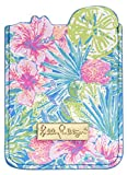 Lilly Pulitzer Leatherette Adhesive Tech Pocket Card Holder for Smartphone Back, Swizzle in