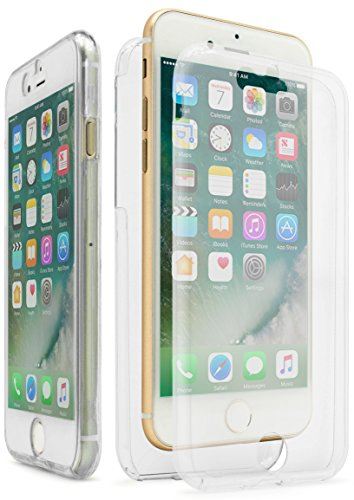 iPhone 7 Case, Bastex Slim Fit Front and Back Full Body Protective Crystal Two Pieces TPU Clear Transparent Bumper Case Cover for Apple iPhone 7