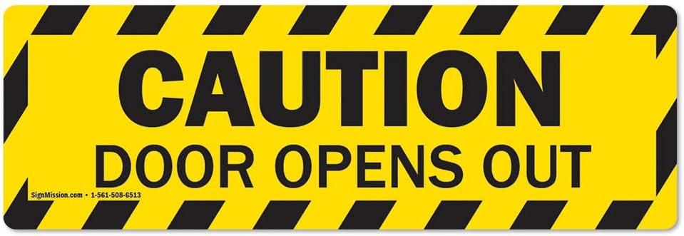 Caution - Door Opens Out Non-Slip Floor Marker | 6 Pack of 6