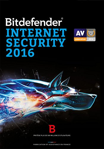 Bitdefender Internet Security 2016 – 1 poste – 1 an [Téléchargement PC]
