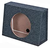 QPower 10 Inch Single Slim Truck Shallow Sealed Subwoofer Box Sub Enclosure